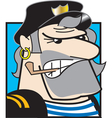 Tough sailor man vector image vector image