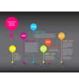 Dark Infographic timeline report template with vector image vector image