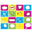 Set of brightly colored speech bubbles vector image