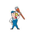 Turkey Plumber Monkey Wrench Cartoon vector image vector image