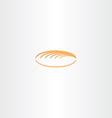 white bread logo icon vector image