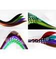 Set of abstract backgrounds Curve wave lines with vector image vector image