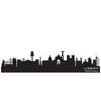 Lisbon Portugal skyline Detailed silhouette vector image