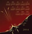 2016 Elegant floral calendar vector image vector image