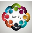 People diversity colorful icon vector image