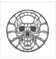 Ancient sign - skull vector image vector image
