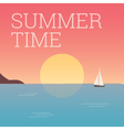 summertime landscape sunset vector image