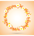 orange round flowers vector image
