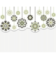 abstract flowers on striped background vector image