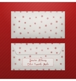 Christmas Letter Envelope with Snowflakes vector image