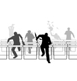 Hurdling businessmen vector image