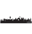 Lisbon Portugal skyline Detailed silhouette vector image