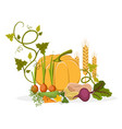 rich harvest of delicious vegetables and plants vector image