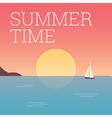 summertime landscape sunset vector image
