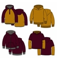Vinous and mustard hoodies vector image