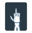 X-rays to Bones hands show thumbs up Obscene vector image