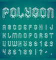 polygon alphabet and numbers vector image