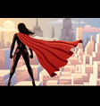 super heroine watch 2 vector image vector image