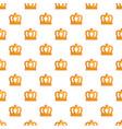 king crown pattern seamless vector image