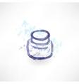 Ink jar grunge icon vector image