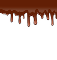 Melted chocolate syrupy drips isolated on white vector image