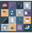 Surgery Icons Flat vector image
