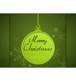 Green Xmas Greeting Card vector image