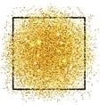 Golden Confetti Background vector image