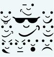 Set of smileys vector image vector image