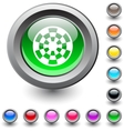 Target round button vector image vector image