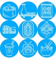 Asian food line icons vector image