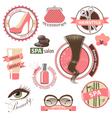 beauty emblems vector image
