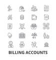 billing accounts paying bill money receipt vector image