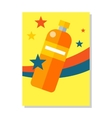Bottle Icon Symball Colorful Plastic Labble vector image