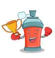 boxing winner aerosol spray can character cartoon vector image