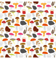 cartoon mushrooms background pattern vector image
