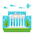 flat design parthenon vector image