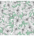 floral seamless pattern flower bloom bouquet vector image