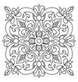 Hand drawing zentangle mandala element Italian vector image