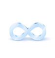 Metal Infinity Symbol vector image