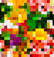 Seamless Square Mosaic Pattern Background in vector image
