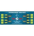 Soccer banner European football tournament vector image