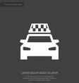 taxi premium icon vector image