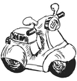 toy scooter vector image