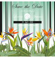 Wedding Card Tropical Flowers Background vector image