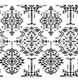 Black and white ethnic seamless pattern with vector image