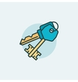 Keys flat icon vector image