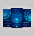 modern network vertical banners global sphere vector image
