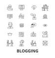 blogging blogger social media news website vector image