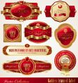 golden ornate frames vector image vector image